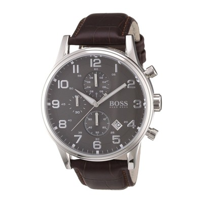 HUGO BOSS Montre bracelet en cuir - marron