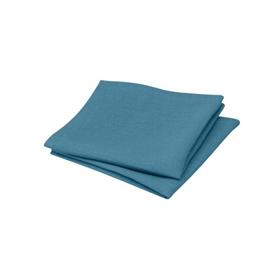 BLANC CERISE Lot de 2 serviettes de table en lin - canard