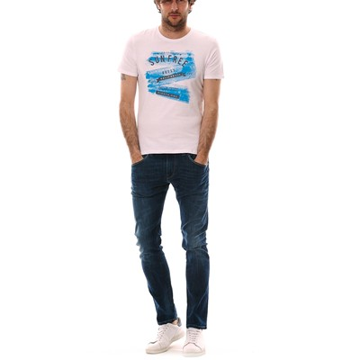 GUESS LIQUID WORDS - T-shirt - blanc
