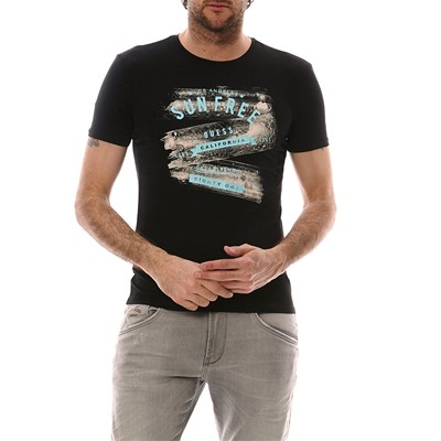GUESS LIQUID WORDS - T-shirt - noir