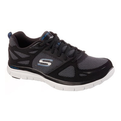 SKECHERS FLEX ADVANTAGE - Baskets en cuir - noir