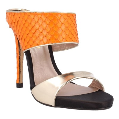 El Dantes Sandales en cuir - orange