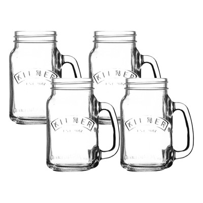 Set de 4 mugs 440 ml - transparent