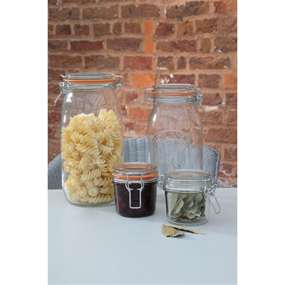 KILNER Lot de 4 bocaux de 1,5 L - transparent