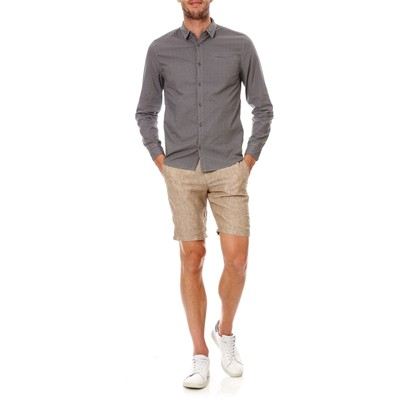 BENETTON Bermuda slim fit en lin - beige
