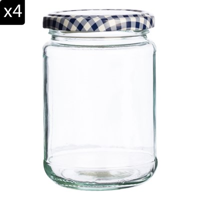 KILNER 4 pots à confiture 370 ml - transparent