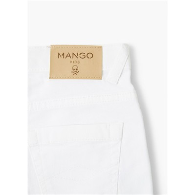MANGO KIDS Short - blanc