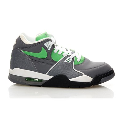 NIKE Air Flight 89 - Baskets en cuir mélangé - gris