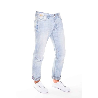 MZGZ Wildy - Jean droit - denim bleu