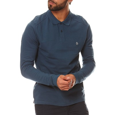 ORIGINAL PENGUIN Polo - denim bleu