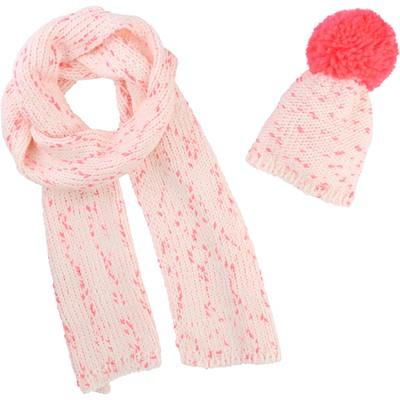 BILLIEBLUSH Bonnet et snood - rose