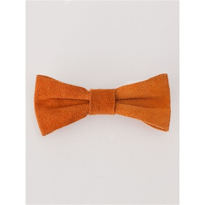 Barrette en cuir - orange
