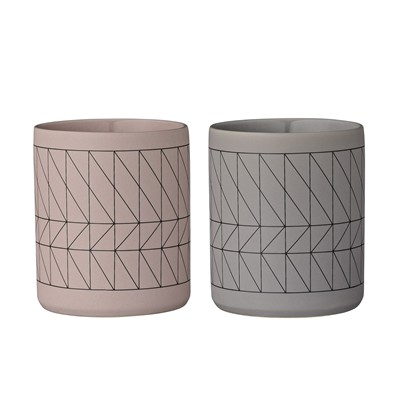 BLOOMINGVILLE Carina - Lot de 2 verres - bicolore