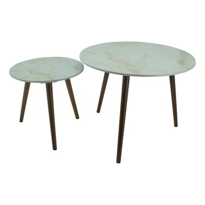 Lot de 2 tables gigognes