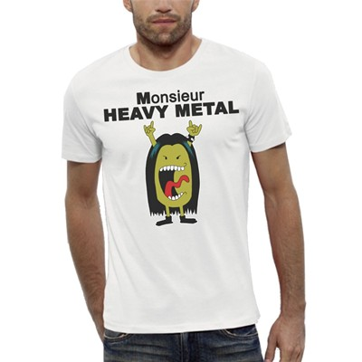 ARTECITA Mr Heavy Métal - T-shirt - blanc