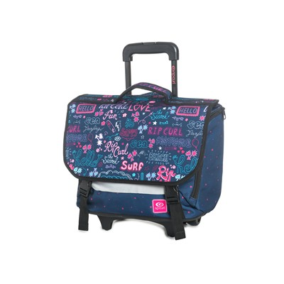 RIP CURL Star Let Wh. Satchel - Cartable à roulettes 17L - bleu