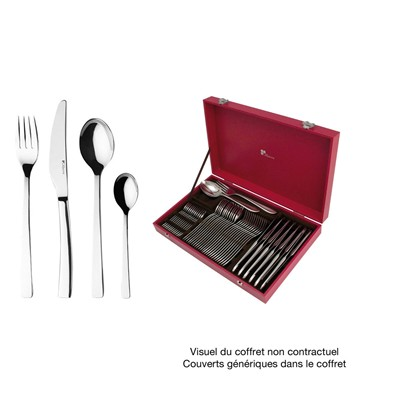 GUY DEGRENNE Astree - Coffret couverts 48 pièces - argent