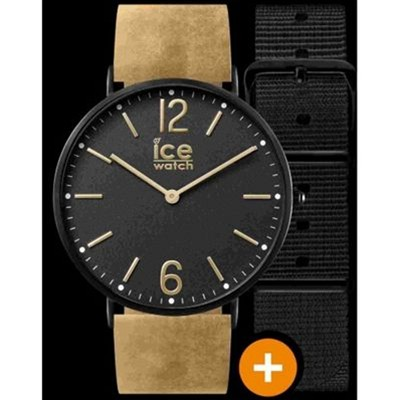 Ice City - Montre bracelet en cuir - marron clair