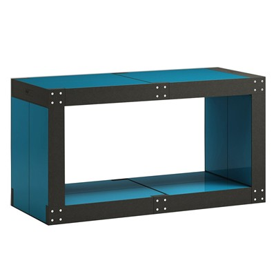 Table basse modulable - bleu