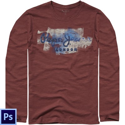 PEPE JEANS LONDON Golders - T-shirt - bordeaux