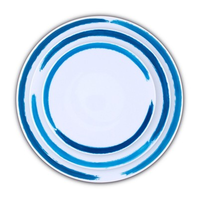 Set de 3 assiettes en porcelaine - bicolore