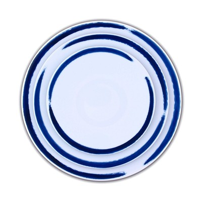 SITE COROT Set de 3 assiettes en porcelaine - bicolore