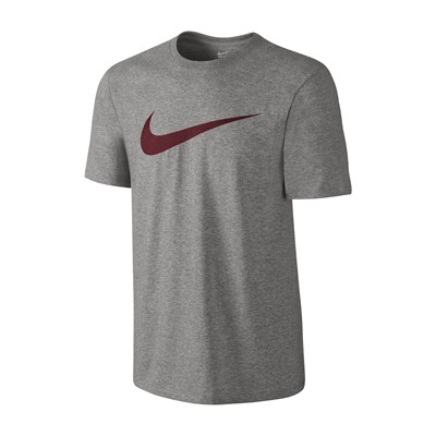 NIKE TEE-CHEST SWOOSH - T-shirt - gris