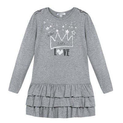 3 POMMES Robe courte - gris chine