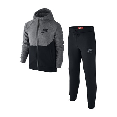 NIKE NSW TRK SUIT - Ensemble sweat à capuche et jogging - charbon