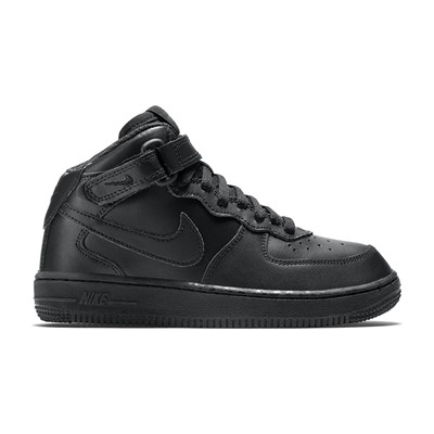 zapatillas Nike Air Force 1 Mid (PS) Zapatillas de cuero negro