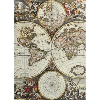 LÉ PAPIERS DE NINON World map - Lé de papier peint - multicolore