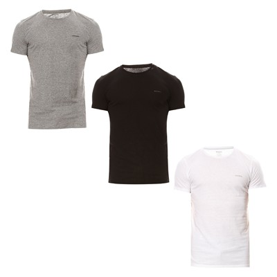 Jake col rond - Lot de 3 T-shirts - bicolore