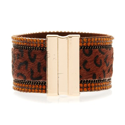 Le louisiane - Bracelet manchette - marron