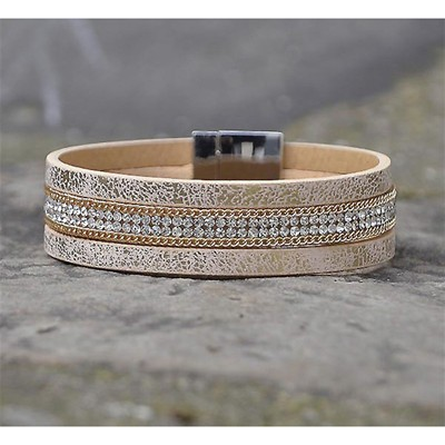 Le Wyoming - Bracelet multi-rangs - beige