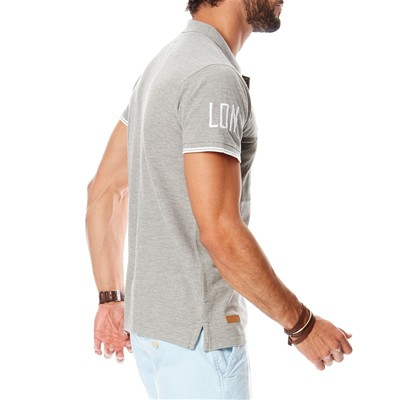 HOPE N LIFE Harchi - Polo - gris