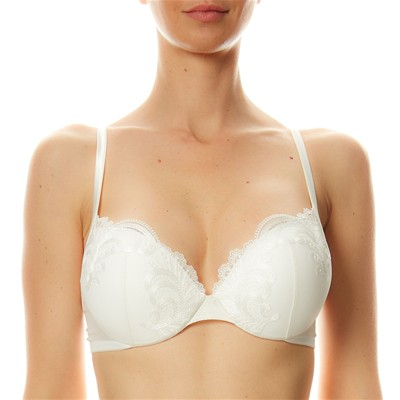 LA PERLA Windflower - Soutien-gorge push up dentelle - blanc
