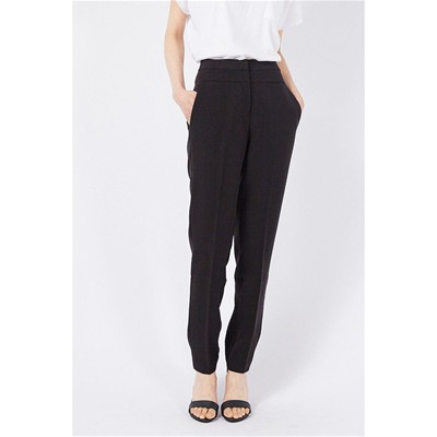 Saumon - Pantalon coupe cigarette - noir