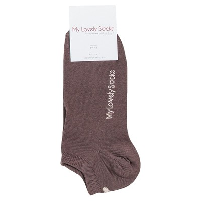 MY LOVELY SOCKS Zelie - Chaussettes invisibles - chocolat