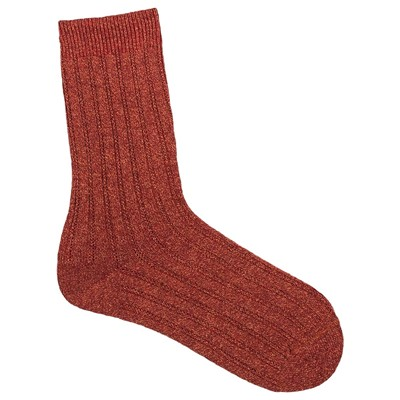 MY LOVELY SOCKS Eileen - Mi-mollets en laine - rouge