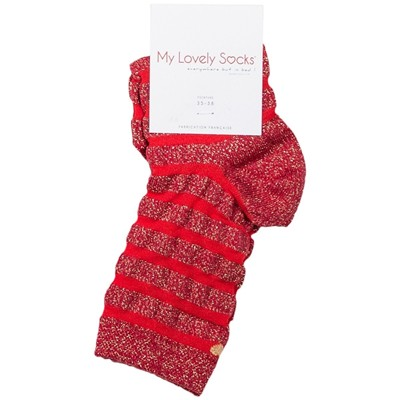 MY LOVELY SOCKS Faustine - Socquettes - rouge