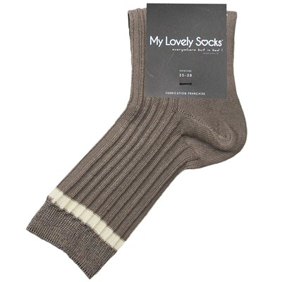 MY LOVELY SOCKS Suzanna - Socquettes - marron