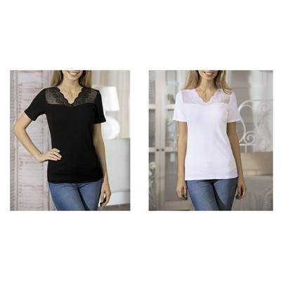 NATURAL FASHION Aksel - Lot de 2 tops - blanc
