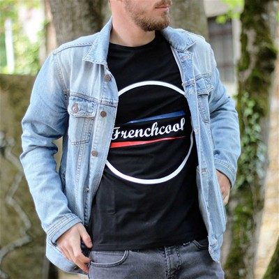FRENCHCOOL Frenchcool  Rond - T-shirt en coton col rond - noir