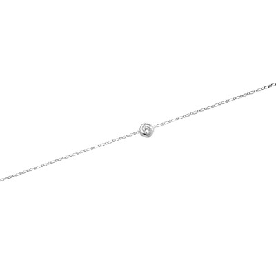 Grand Amour - Collier en or orné de diamant - blanc