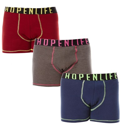 HOPE N LIFE Usain - Lot de 3 boxers - tricolore