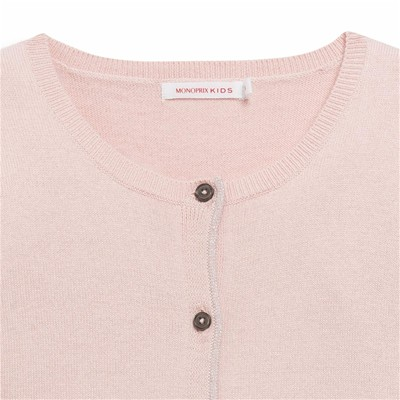 MONOPRIX KIDS Cardigan - rose