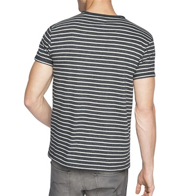 EDC BY ESPRIT Heather stripe - T-shirt - bleu marine