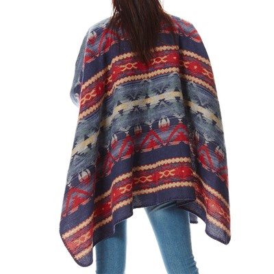 BEST MOUNTAIN Poncho - bleu marine