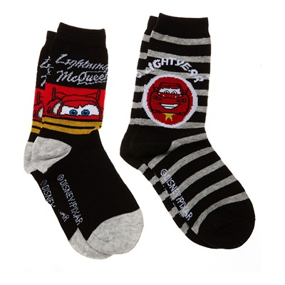 DISNEY Cars - Lot de 2 paires de chaussettes - denim noir