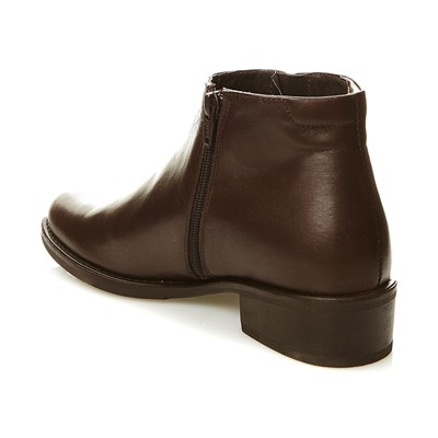 Low boots en cuir - marron